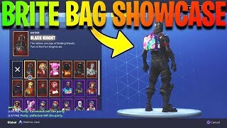 "*NEW* ""Brite Bag"" Back Bling SHOWCASE with 25+ Character Skins in Fortnite! (Fortnite Battle Royale)"