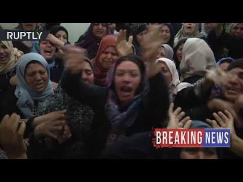 [BREAKING NEWS]Palestinians grieve en masse after 17 killed in violent Gaza clashes
