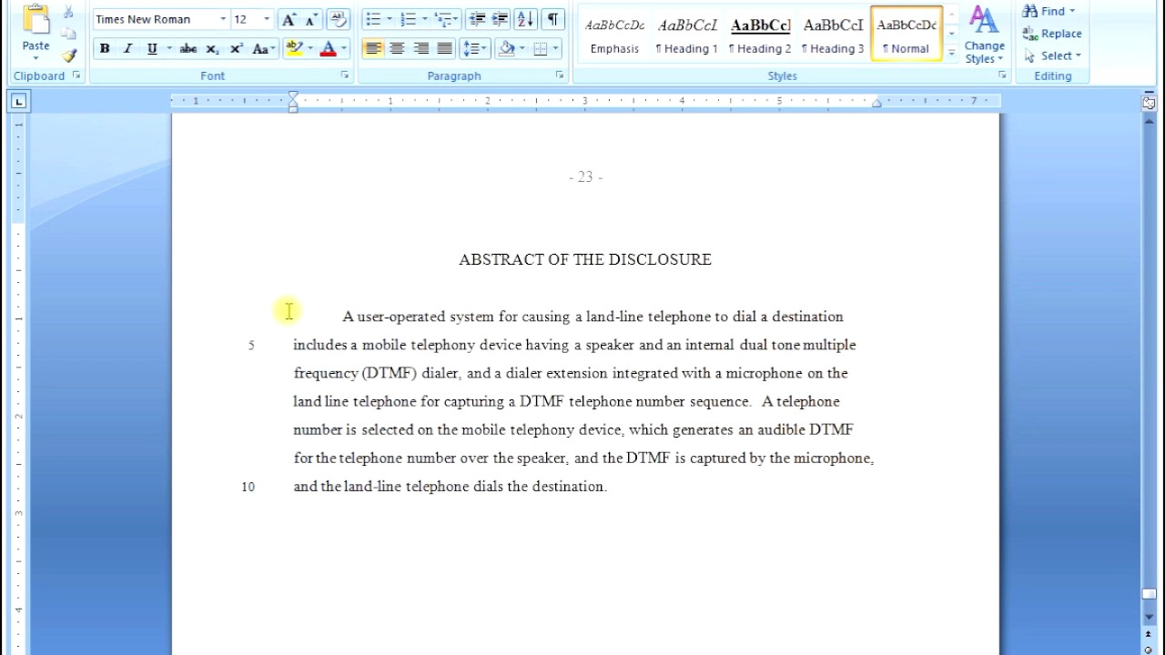 Writing the Abstract Section of a Patent Application by Don Boys