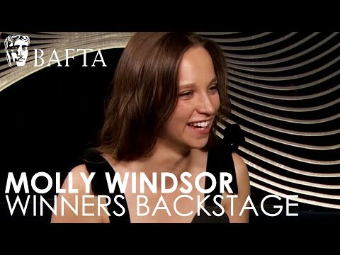 Three Girls star Molly Windsor backstage after winning Leading Actress | BAFTA TV Awards 2018