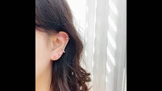 14K 데일리 컷팅 원터치 링피어싱 귀걸이