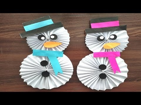DIY - How to Make a Paper Snowman | Christmas Craft for Kids