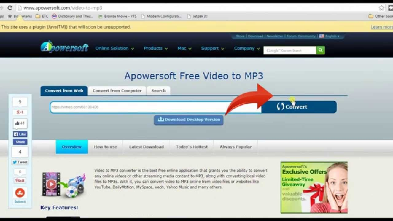 Perfect way to convert Vimeo to MP3