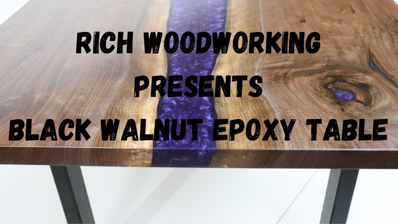 Black Walnut & Midnight Purple Amazing Epoxy Resin River ...
