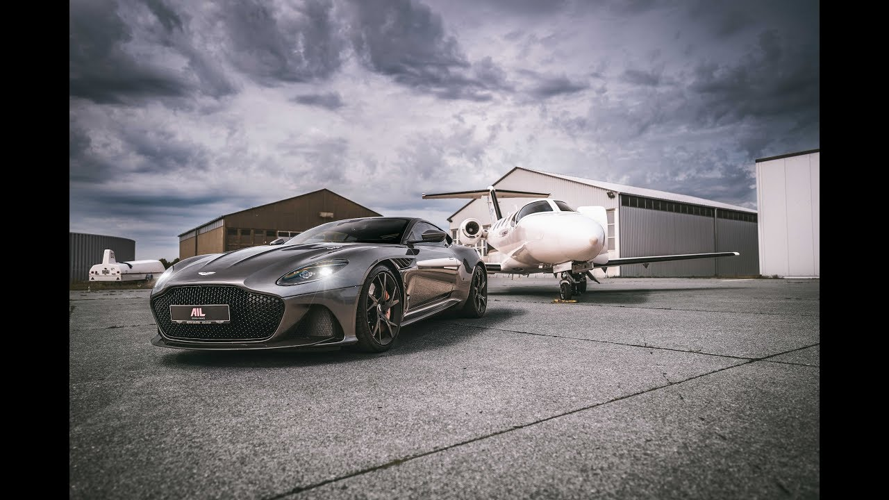 Aston Martin DBS Superleggera meets Private Jet - 725 PS/900NM - Filmed on Sony A7iii  [4K]