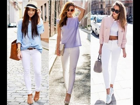 6f5252fcaf25 How to wear white skinny jeans in summer - YouTube