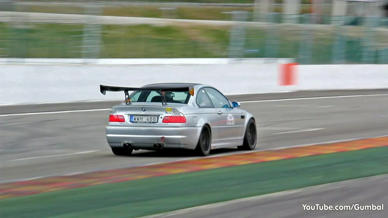 Extremely Loud Bmw E46 M3 With Oversized Spoiler