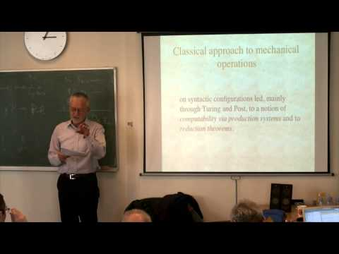 Wilfried Sieg  : The concept of computation: an axiomatic characterization