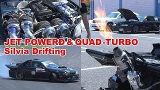 【ENG】1000馬力ジェットエンジン搭載シルビア登場! Jet powerd Quad-turbo Silvia Drifting【V-OPT291#7】