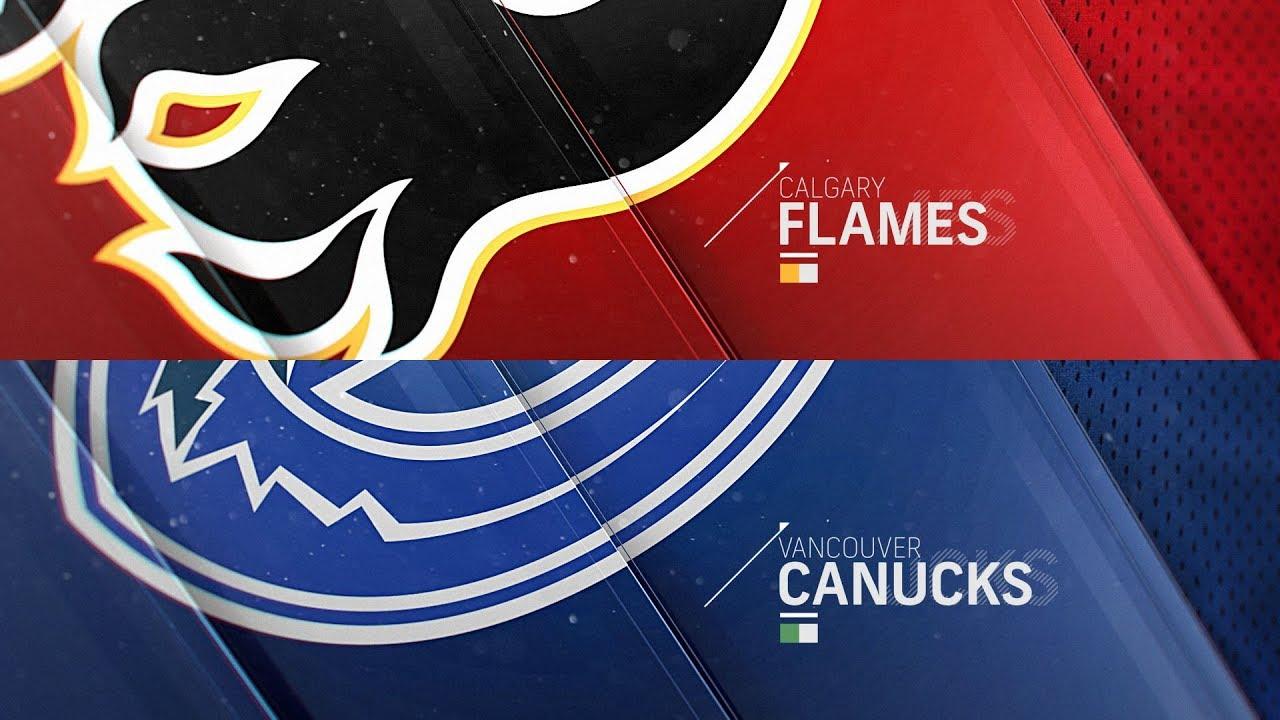 Calgary Flames Vs Vancouver Canucks Feb 9 2019 Highlights