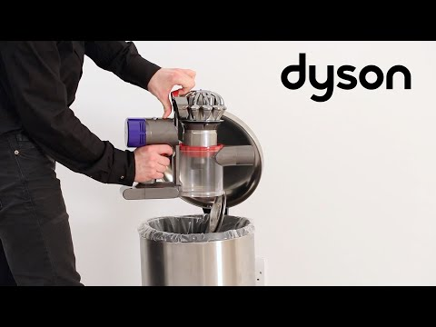 Dyson V8 cord-free vacuums - Emptying the clear bin (UK)