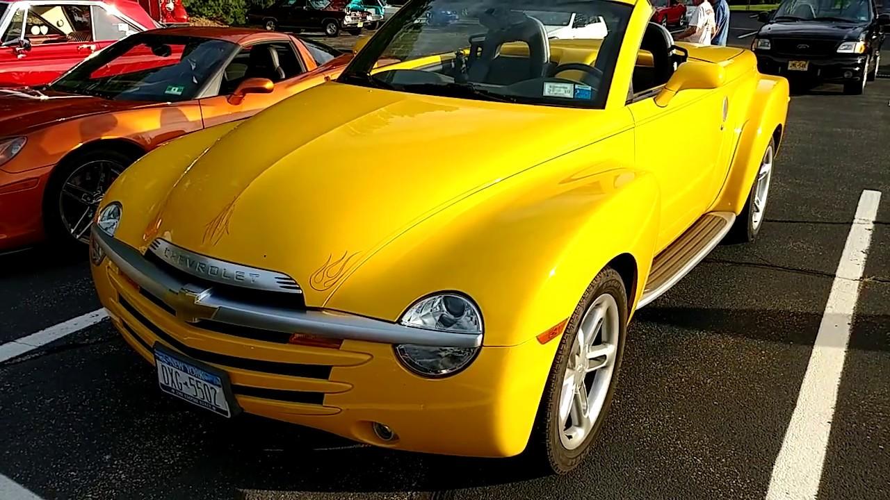 2003 Yellow Chevrolet Ss R Pickup Truck Convertible