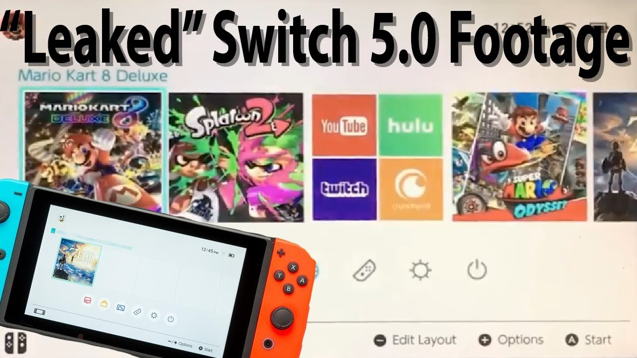 nintendo switch firmware update 5.0