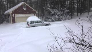 Subaru Forester in Deep Snow