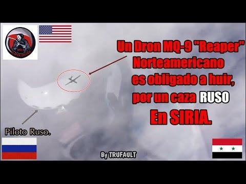 """Un MQ-9 """"Reaper"""" Norteamericano es obligado a huir por un caza RUSO en SIRIA! By TRUFAULT"""