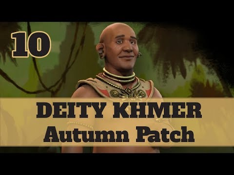 Civ 6 Khmer 10 Let's Play - Jayavarman Religious Relics Victory on the Autumn Patch