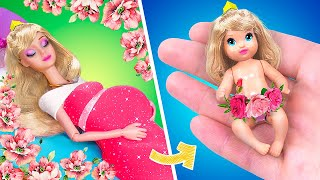 Aurora and Her Baby  / 11 DIY Disney Doll Hacks and Crafts