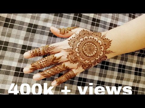 Mandala Mehndi Design for hands_2017