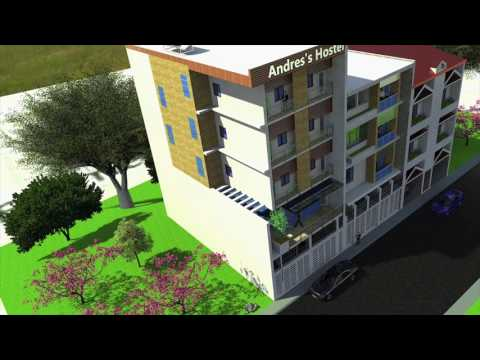 Architecture: 5-Storey Hostel/Cafe Design