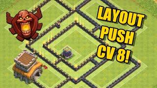 Layout Push Cv 8 - Defesa - Clash Of Clans 2016