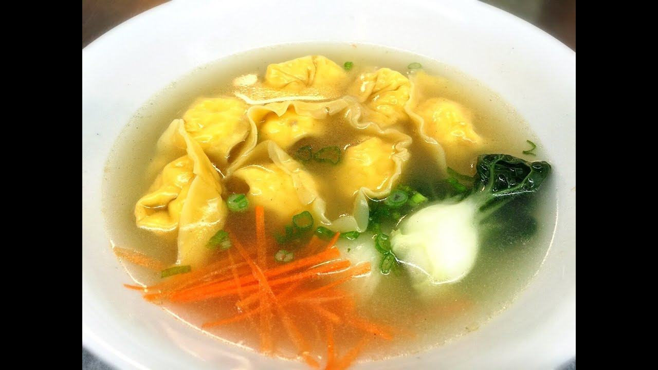 Chicken Wonton Soup 雞餛飩湯, A Chinese Recipe with Over 2000