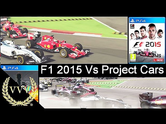 Project Cars Vs F1 2015 PS4 Replay Monza