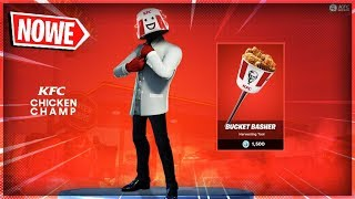 "PACKAGE ""KFC"" OUTDOOR! NEW SKINS in FORTNITE (partnering with KFC)!"