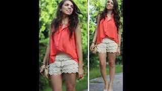 Трогательные шорты с кружевом или кружевные шорты - тренд этого лета