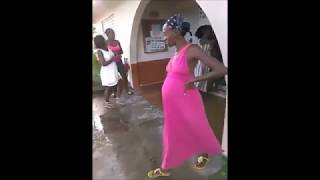 Two Pregnant Jamaican Women Fighting One Pregnant woman
