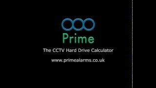 Primes - CCTV Hard Drive Calculator - Days and Hard Drive Size