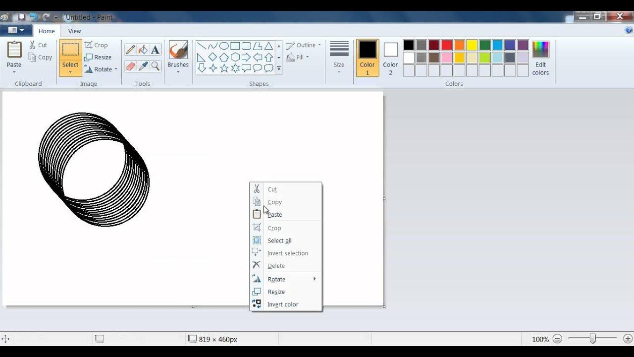 MS Paint Circle Design Tutorial - YouTube