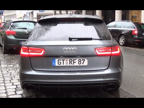 audi rs6 avant c7 w akrapovic exhaust start up loud sound youtube. Black Bedroom Furniture Sets. Home Design Ideas