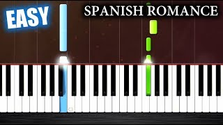 Spanish Romance - EASY Piano Tutorial by PlutaX