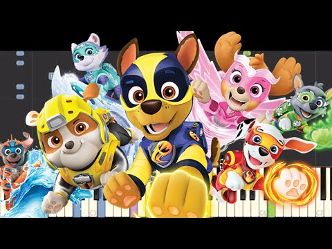 IMPOSSIBLE REMIX  Paw Patrol : Mighty Pups Theme Song  Piano