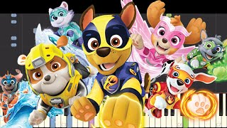 IMPOSSIBLE REMIX - Paw Patrol : Mighty Pups Theme Song - Piano Cover