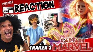 🎬 Capitã Marvel TRAILER 3 - Reaction Irmãos Piologo Filmes