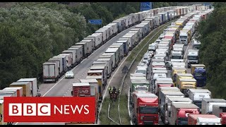 Lorry gridlock in Kent to continue for days - after France and UK agree tests for drivers - BBC News