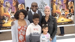 Terry Crews, children and wife Rebecca King Crews at The Star Los Angeles Premiere