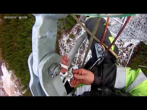 Linework 132kw steel mast in norway