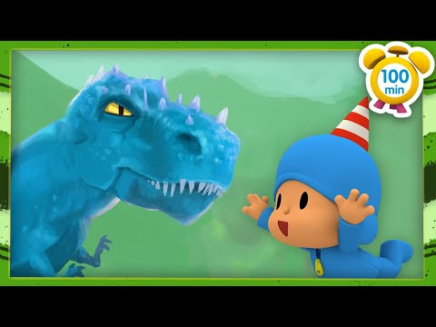 🦕POCOYO in ENGLISH - Dinosaurs for kids  [100 min ]   Full Episodes   VIDEOS and CARTOONS