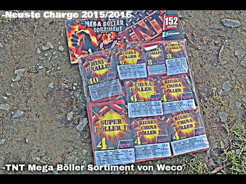 TNT Weco Böller-Sortiment 2015/2016 Aktuelle Charge Test -Sehr Gute Böller-