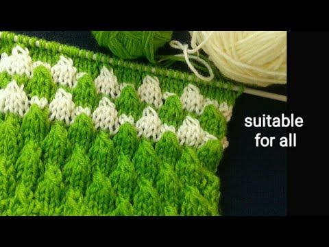 69e72747017d Easy arrow knitting design in hindi (eng subtitle) knitting pattern ...