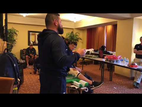 Adrian Ferris CCIG Tiger Rugby Head Coach Gives Pre Las Vegas Sevens 2018 Finals Game Speech