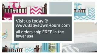 Chevron Baby Crib Bedding - Zig Zag Nursery Decor