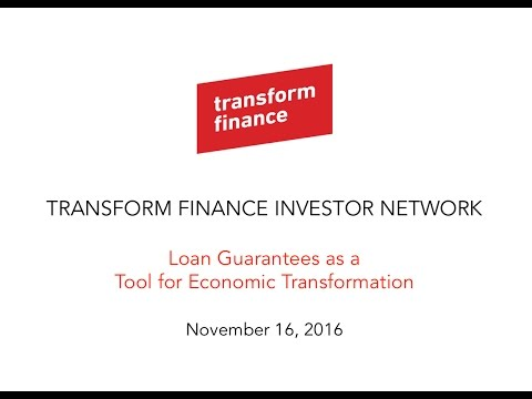 Loan Guarantees - Shared Interest - Transform Finance Investor Network Webinar