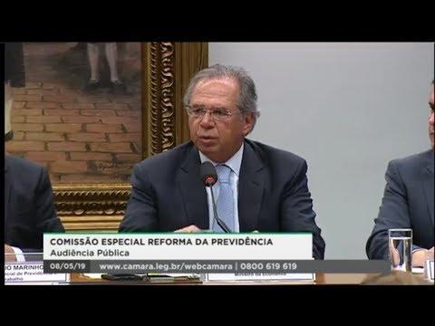 Comissão Especial da Reforma da Previdência - Ministro Paulo Guedes - 08/05/2019 - 14:41