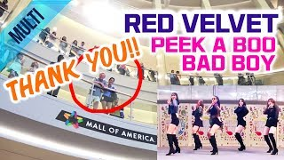 [KPOP IN PUBLIC] 👉Multi View + Performance👈 Red Velvet - Peek-A-Boo & Bad Boy Cover @Mall of America