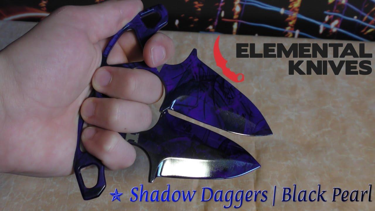 real life shadow daggers doppler black pearl elemental knives