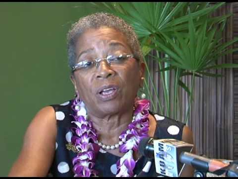 Donna Christensen speaking with Guam