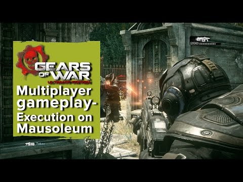 Gears of War: Ultimate Edition Xbox One multiplayer gameplay - Execution on Mausoleum